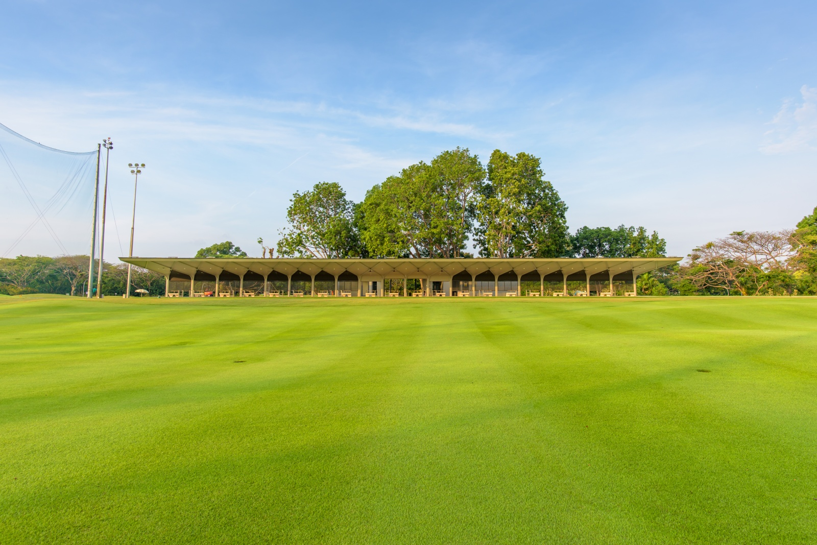 country club course, driving range